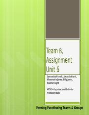 Team B-MT302-Unit 6 Group Assignment.pptx