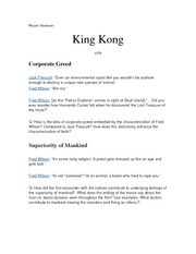 King Kong Discussion