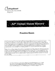 US History Practice Exam Part 2