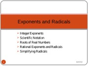 (6) Powerpoint 2 - Exponents