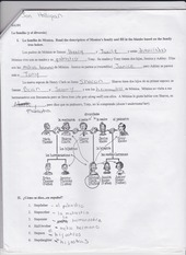 la familia worksheet homework