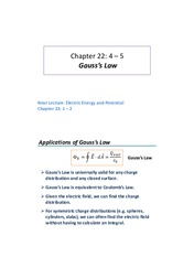 Lecture 05 - Gauss Law