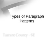 Types of Paragraph Patterns
