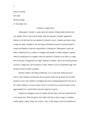 tragic flaw study resources 4 pages hamlet critical essay