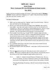 MKTG_301_Study_Guide_-_Exam_2__Fall_2013