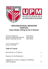 organizational change report