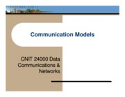 Lecture 01 - Communication Models