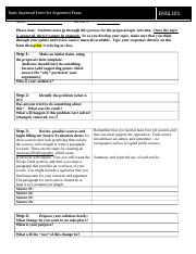 Topic Approval Form for the Proposal Essay revised 2016