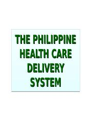 THE PHILIPPINE HEALTH CARE DELIVERY SYSTEM.ppt-revised 2012