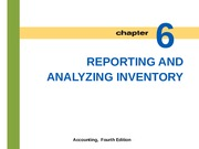 Lecture 5: Reporting and Analyzing Inventory