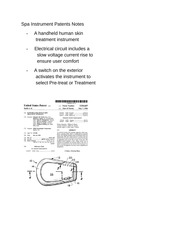 Spa Instrument Patents Notes