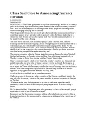 China_Said_Close_to_Announcing_Currency_Revision