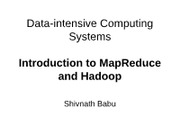 08.29_Introduction to MapReduce and Hadoop