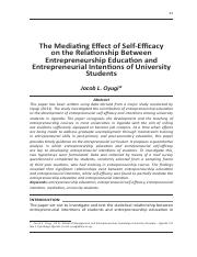 The Mediating Effect of Self-Efficacy.pdf