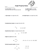 Angle Property Notes - Teacher