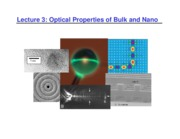 Lecture 3 - Optical Properties of Bulk and Nano