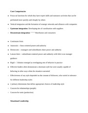 Notes on Manipulation and Core Competencies