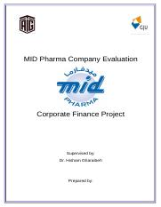 Dar Al Dawa Company Evaluation - Corporate Finance Project (1) (1)