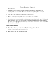 Review Questions Chapter 10