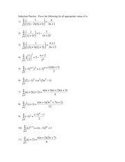 Comp Sci 241 Induction Practice problems