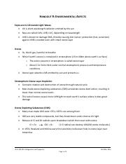 Handout 9 - Environmental Aspects