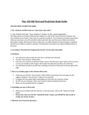 Psyc110 Mid-Term & Final Exam Study Guide