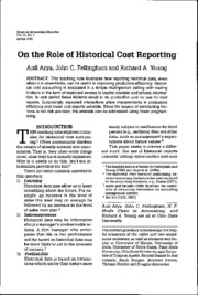 Historical Cost Reporting