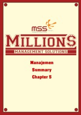 [SUMMARY] Management Chapter 5
