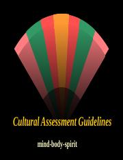 Cultural Assessment [Powerpoint]