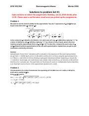 ECSE 354 : Electromagnetic Waves - McGill University - Course