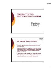 Feasibility Study Written Report Format Topic Slides.ppt _Read-Only_