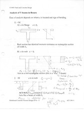 Analysis of T beams in flexure notes