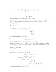MTHE 235 Section 3.5 Problem Solutions
