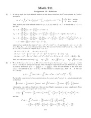 MATH 211 Assignemnt 13 Solutions