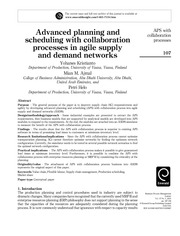 Advanced_planning & scheduling with collaboration process in agile supply and demand networks