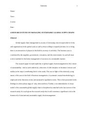 A RESEARCH STUDY ON MANAGING SUSTAINABLE GLOBAL SUPPY CHAINS.docx