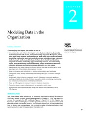 Modern DB Mgmt.Ch2.Modeling Data in the Organization