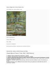 Monet  Bridge Over a Pond of Water Lilies.docx