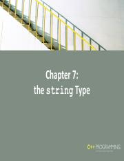 Chapter 7 String Data Type