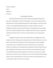 Final Essay- Black Femininity