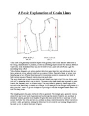 A Basic Explanation of Grain Lines Notes