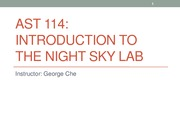 AST 114 INTRO TO NIGHT SKY PPT SLIDES