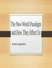 New world paradigm And The effect to leadership, economics, and financial right now..pptx