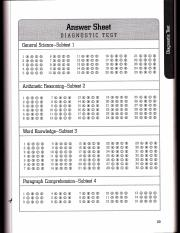 Answer Sheet Diagnostic Test