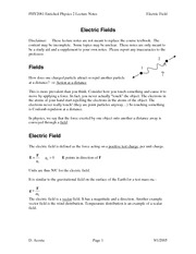 PHY2061 - Enriched Physics 2 Lecture Notes ElectricField