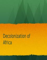 Decolonization of Africa PPT