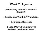Week 2 Lecture Outline