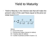 Chapter 5 Factors of Bond Yield II