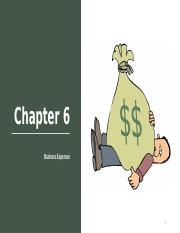 Chapter 6 Business Expenses