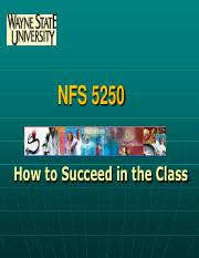 Succeeding in NFS 5250